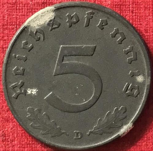 German Third Reich - 1941 D (D - Munich mint) - 5 Reichspfennig [#2]