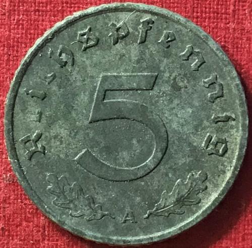 German Third Reich - 1941 A (A - Berlin mint) - 5 Reichspfennig [#3]