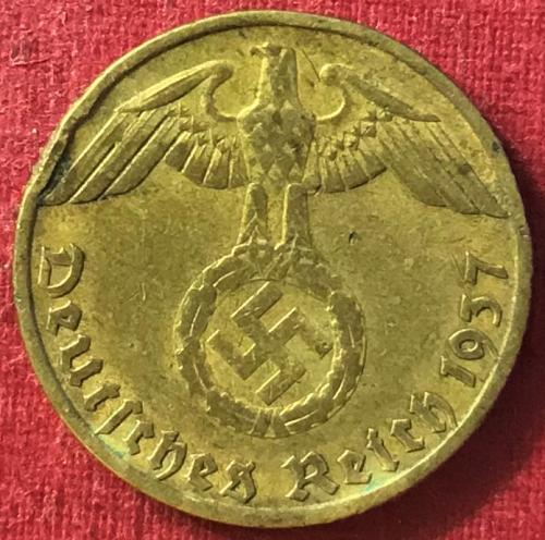 German Third Reich - 1937 J (J - Hamburg mint) - 5 Reichspfennig [#1]