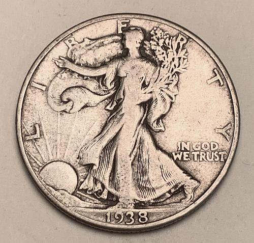 1938-D Walking Liberty Half Dollar F15 [WL 211]
