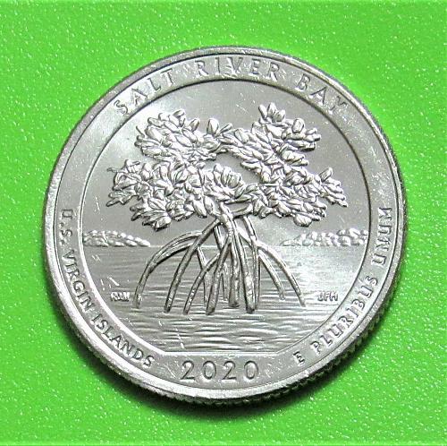 2020-D 25 Cents - Salt River Bay US Virgin Islands National Park America Beautif