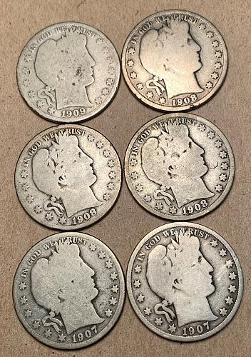 11 Different Barber Half Dollars [BH 69]
