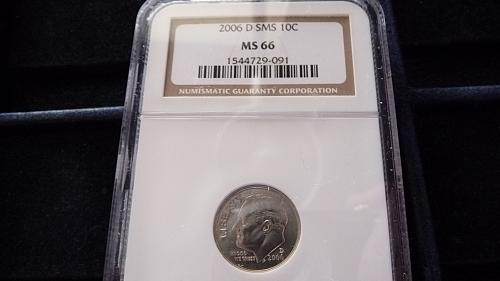 2006-D SMS ROOSEVELT DIME IN MS66 NGC  A-14-21