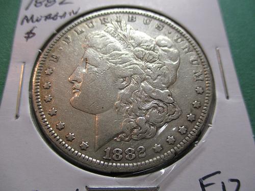 1882  F12 Morgan Dollar.  Item: DM 82-06.