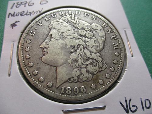 1896-O  VG10 Morgan Dollar.  Item: DM 96O-03.