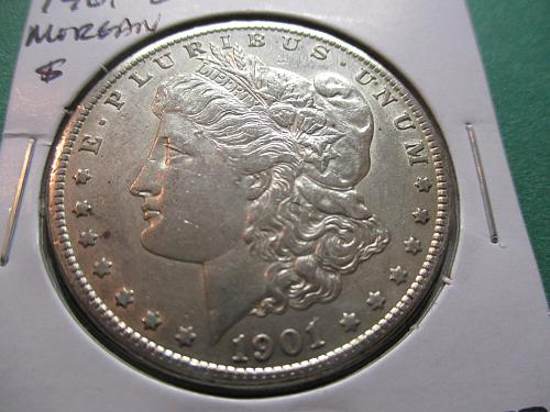 1901-O  AU53 Morgan Dollar.  Item: DM 01O-07.