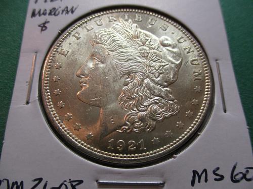 1921  MS60 Morgan Dollar. Item: DM 21-08.