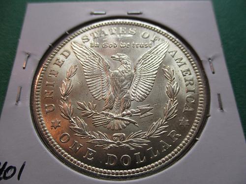 1921  MS60 Morgan Dollar.  Item: DM 21-09.
