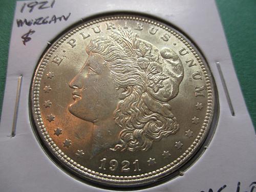 1921  MS60 Morgan Dollar.  Item: DM 21-10.