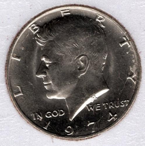 1974 p BU Kennedy Half Dollar -#7b