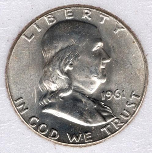 1961 P Franklin Half Dollars -#2b