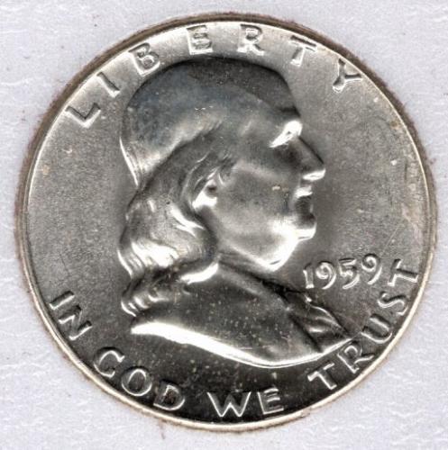 1959 P Franklin Half Dollars -#3b