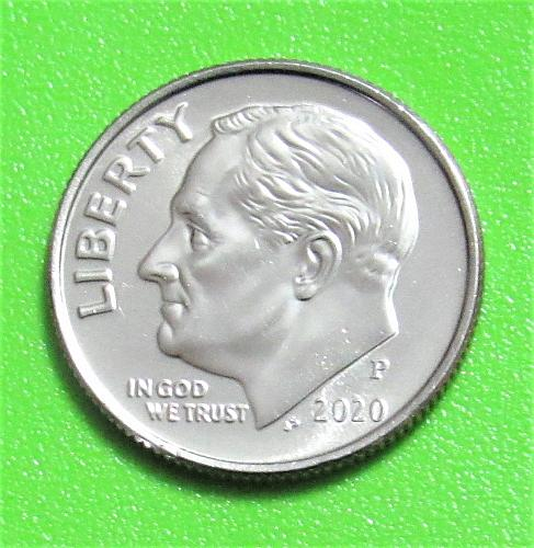 2020-P 10 Cents - Roosevelt Dime