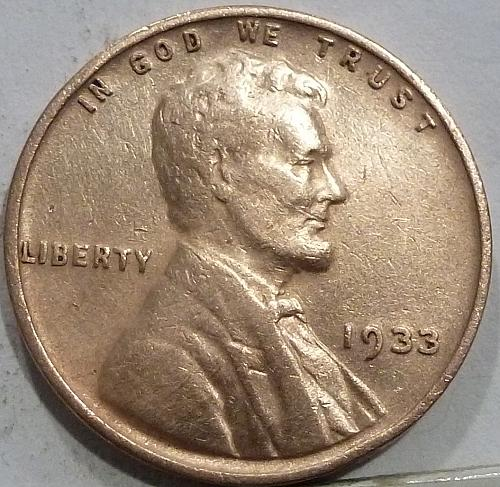 1933-P About Unc. Lincoln Wheat Cent About Uncirculated ( R-132 )