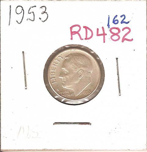 1953 Roosevelt Dime