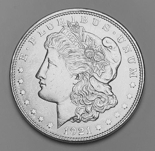1921 Morgan Silver Dollar MS63 [MDL 542]