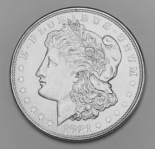 1921 Morgan Silver Dollar MS63 [MDL 554]