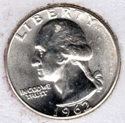 1962 P Washington Quarters - #8c