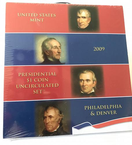 2009 Presidential $1 Coin Uncirculated Set--US Mint SEALED (0111-2)