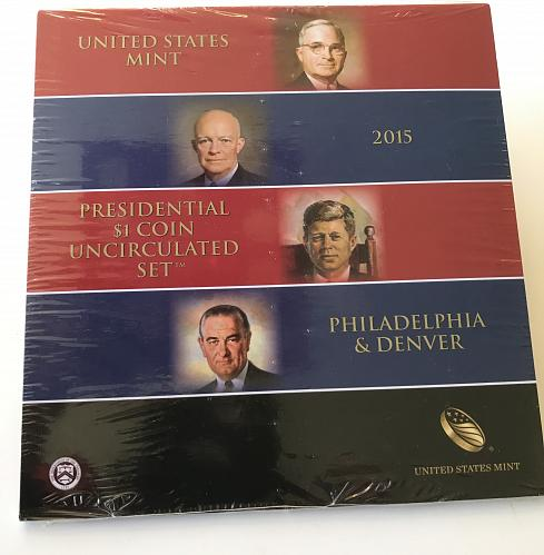 2015 Presidential $1 Coin Uncirculated Set--US Mint SEALED (0112-2)
