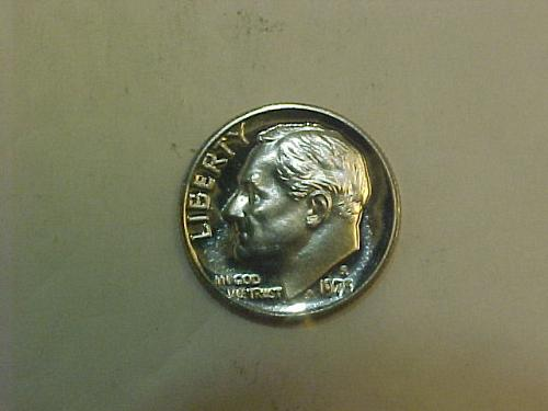1973 S ROOSEVELT DIME CAMEO PROOF       ah78