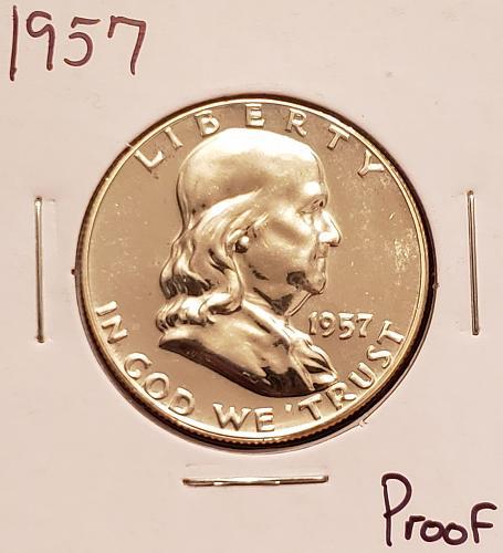 1957  Franklin Half Dollar -Proof