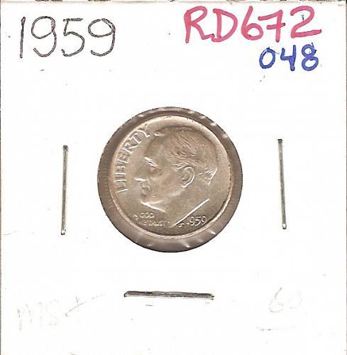 1959 Roosevelt Dime