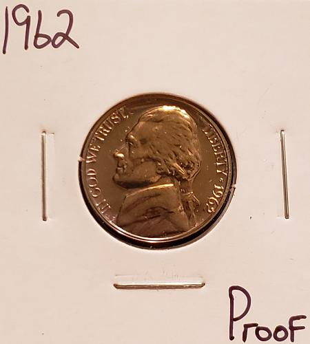 1962 P Jefferson Nickel - Proof