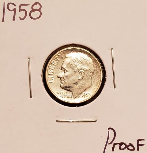 1958  Roosevelt Dime - Proof