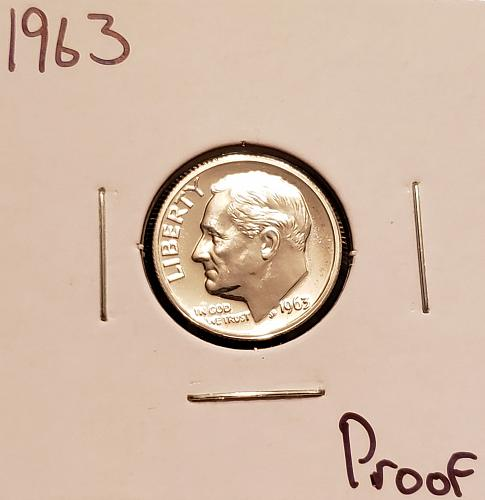 1963 P Roosevelt Dime -Proof Silver