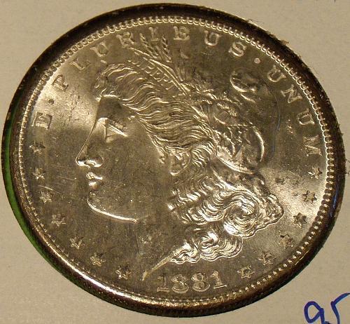 1881S Morgan Dollar  MS64+  #$-1881S-2