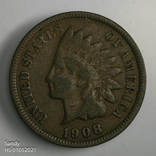 1908 P Indian Head Cent VG