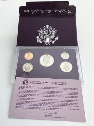 1991-S US Mint Proof Set W/box and COA (0118-1)