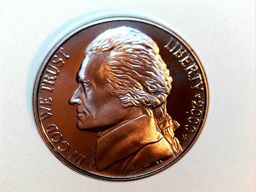 2000-S Proof Jefferson Nickel