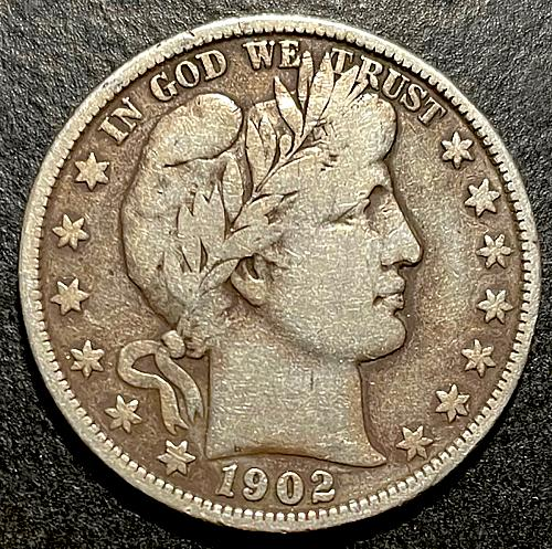 1902 Barber Half Dollars Early Silver Half Dollars V2P12R5