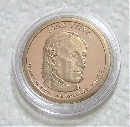 2009-S $1 John Tyler Presidential Dollar - Cameo Proof