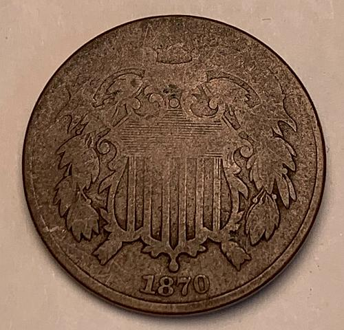 1870 Two Cent Piece [2c 23]