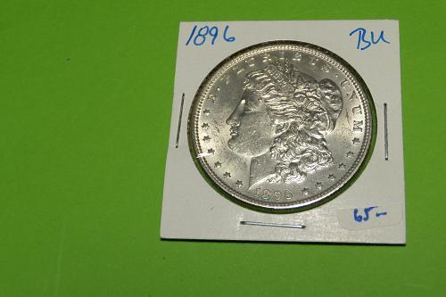 1896 Morgan Dollar  MS62  #$-1896-3