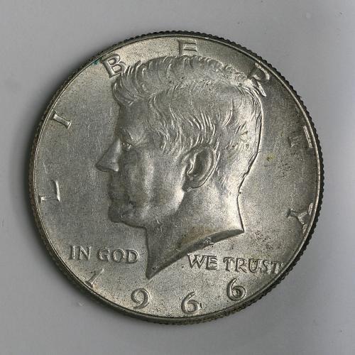 1966 P Kennedy Half BU
