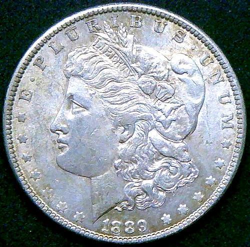 1889 Morgan Dollars Early Silver Dollars V2P13R1
