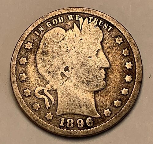1896 Barber Quarter [BSWQ 552]