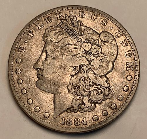 1884-S Morgan Silver Dollar VF [MDL 564]
