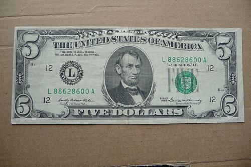 1969  $5.00 F R N