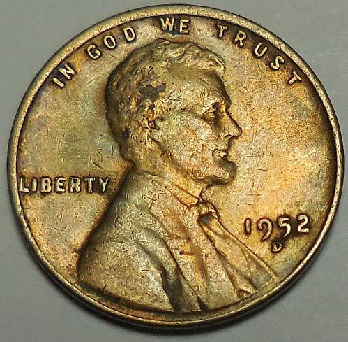 1952-D Lincoln Wheat Cent