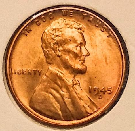 UNCIRCULATED 1945-D WHEAT CENTS
