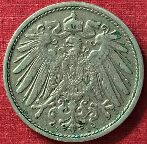 German Empire - 1908 D (D - Munich mint) 10 Pfennig