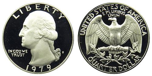 1979-S WASHINGTON QUARTER FROM PROOF SET IN FLIP (STOCK PHOTO)  A-22-21