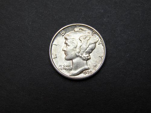 1930 P Mercury Dime Almost Uncirculated Coin   x66