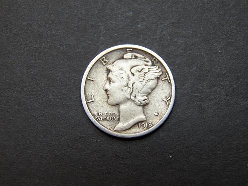 1918 P Mercury Dime Very Fine Coin   x69