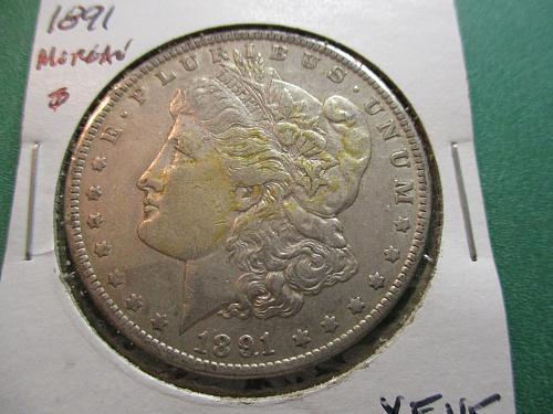 1891  XF45 Morgan Dollar.  Item: DM 91-05.